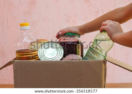 box with food - stock photo
