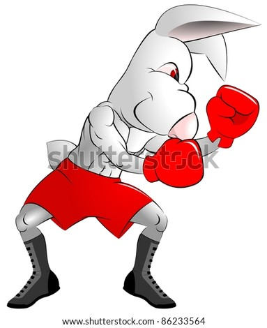 Boxer rabbit - stock photo
