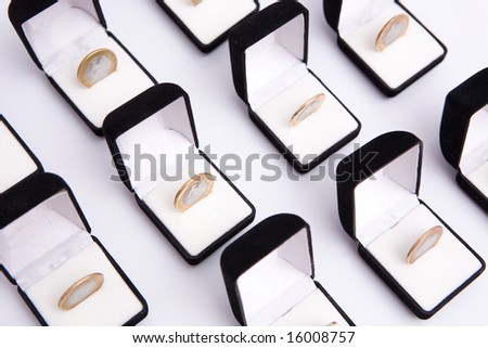 boxes of jewels with brazilian coin - stock photo