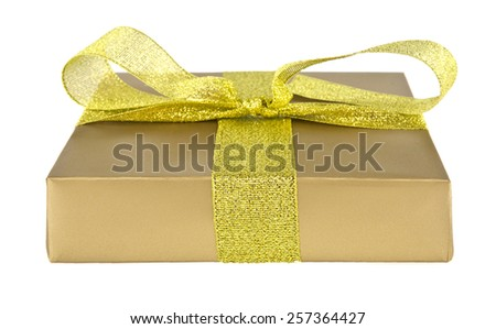 boxes with gifts on a white background - stock photo