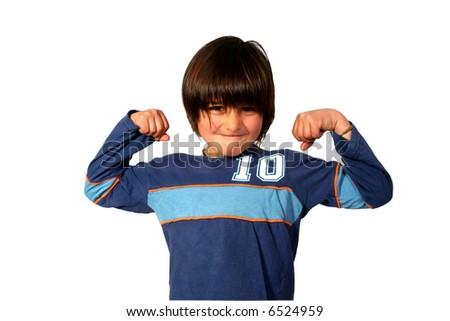 Boxing boy - stock photo