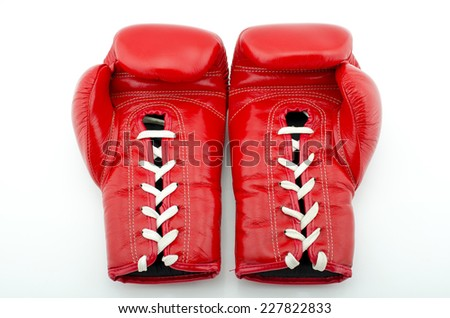 Boxing Glove Taken With a Full Frame Digital Camera - stock photo