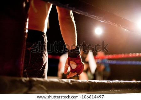 boxing match - stock photo