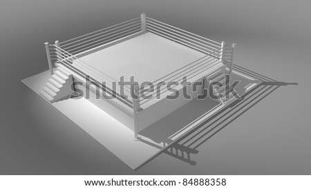 Boxing ring  - 3d render high resolution - stock photo