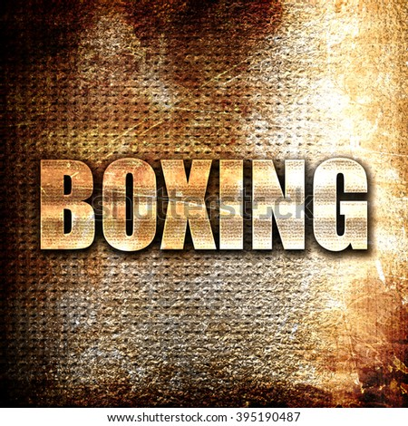 boxing sign background - stock photo