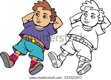 Cartoon boy daydreaming stock illustration. Illustration ... |Daydreaming Cartoon