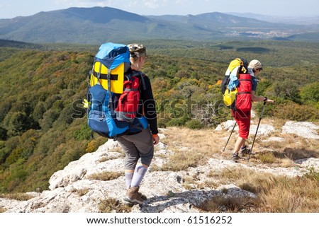 boy in mountains - stock photo