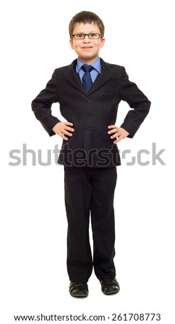 boy in suit - stock photo