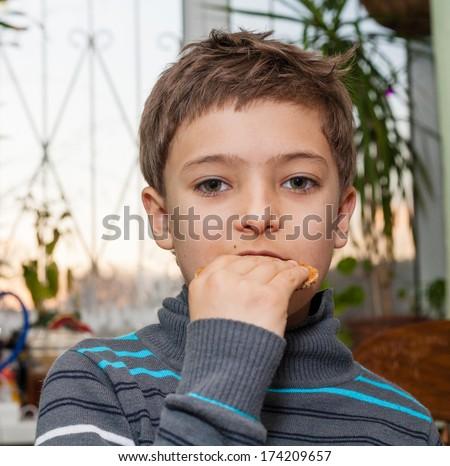 boy indoors - stock photo