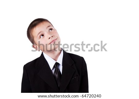 boy, isolated on white background - stock photo
