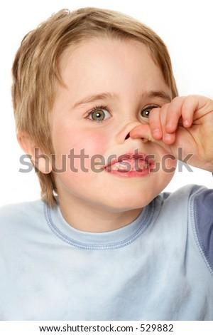 Boy nose - stock photo