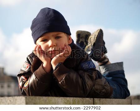 boy posing - stock photo