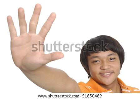 Pictures of Hands Saying Stop Boy Saying Stop With Her Hand