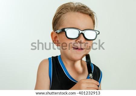 Boy-spy - stock photo