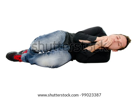 boy who sleeps - stock photo