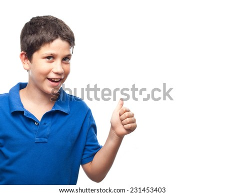 boy with all right gesture - stock photo