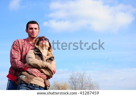 boyfriend and girlfriend - stock photo