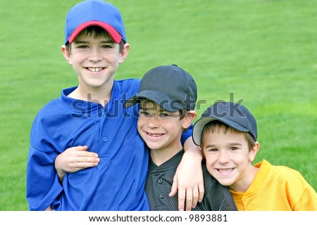 Boys On Game Day - stock photo