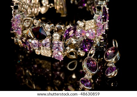 bracelet and earrings - stock photo