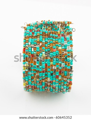 bracelet fashion accessory isolated in white - stock photo