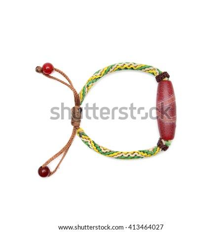 Bracelet Isolated On White Background. - stock photo