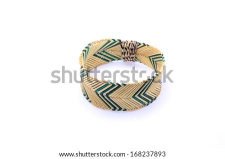 bracelet on the white background - stock photo