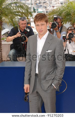 """Brad Pitt at photocall for his new movie """"A Mighty Heart"""" at the 60th Annual International Film Festival de Cannes. May 21, 2007  Cannes, France.  2007 Paul Smith / Featureflash - stock photo"""