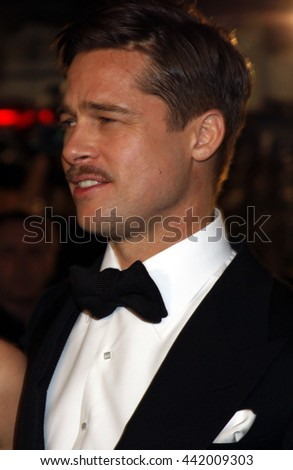 Brad Pitt at the Los Angeles premiere of 'The Curious Case of Benjamin Button' held at the Mann Village Theater in Westwood, USA on December 8, 2008. - stock photo