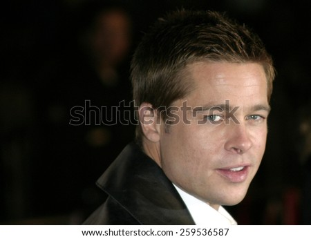 """Brad Pitt at the """"Ocean's Twelve"""" Los Angeles Premiere held at the Grauman's Chinese Theater in Los Angeles, California, United States on December 8, 2004. - stock photo"""