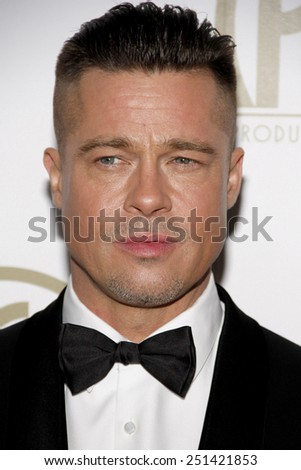 Brad Pitt at the 25th Annual Producers Guild Awards held at the Beverly Hilton Hotel in Los Angeles in Los Angeles, California, United States on January 19, 2014.  - stock photo