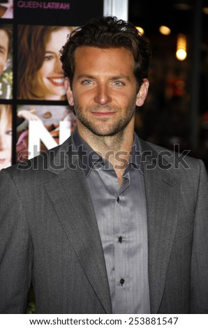 """Bradley Cooper at the Los Angeles Premiere of """"Valentine's Day"""" held at the Grauman's Chinese Theate in Hollywood, California, United States on February 8, 2010.  - stock photo"""