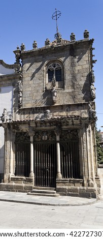 BRAGA, PORTUGAL - September 21, 2015: The Chapel of the Coimbras is a gothic monument in Braga, on September 21, 2015 in Braga, Portugal - stock photo