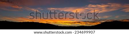 Braga Sunrise, Panoramic View from Picoto - stock photo