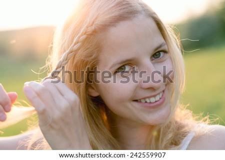 braided hair - stock photo