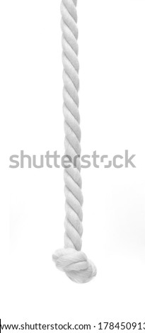 Braided rope on white background - stock photo