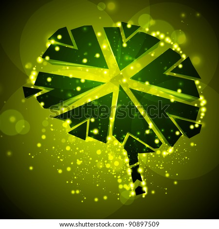 Brain crushing, abstract light background, illustration - stock photo