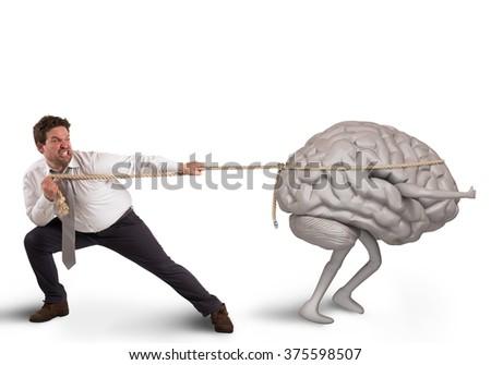 Brain drain - stock photo