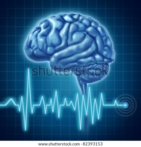 Brain function medical symbol - stock photo