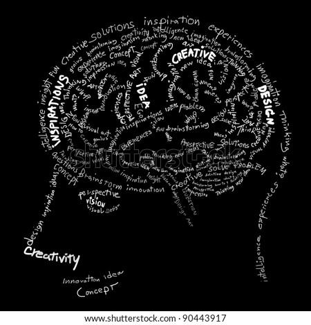 Brain Graphic ,creative concept - stock photo