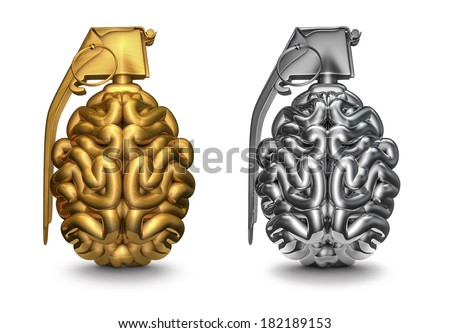 Brain grenade - stock photo