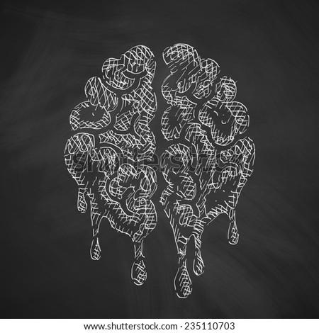 brain icon - stock photo
