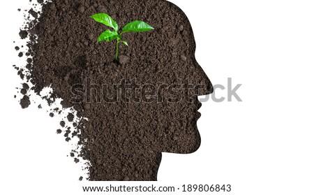 brain new idea concept - stock photo