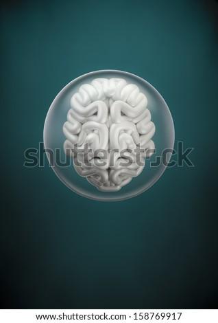 Brain sphere - stock photo