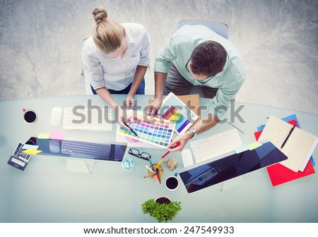Brainstorming Planning Partnership Strategy Workstation Business Administratation Concept - stock photo