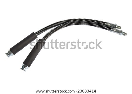 brake hoses isolated on white background - stock photo