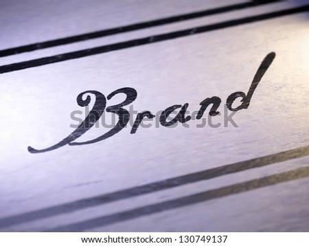 Brand - stock photo