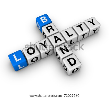 brand and customer loyalty crossword - stock photo
