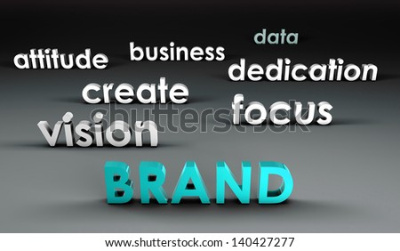 Brand at the Forefront in 3d Presentation - stock photo