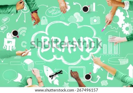 Brand Branding Connection Idea Technology Concept - stock photo