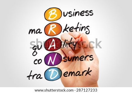 BRAND, business marketing concept acronym - stock photo